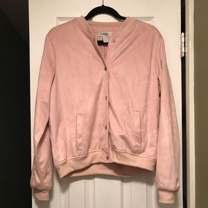 Charlotte Russe Faux Suede Pink Jacket